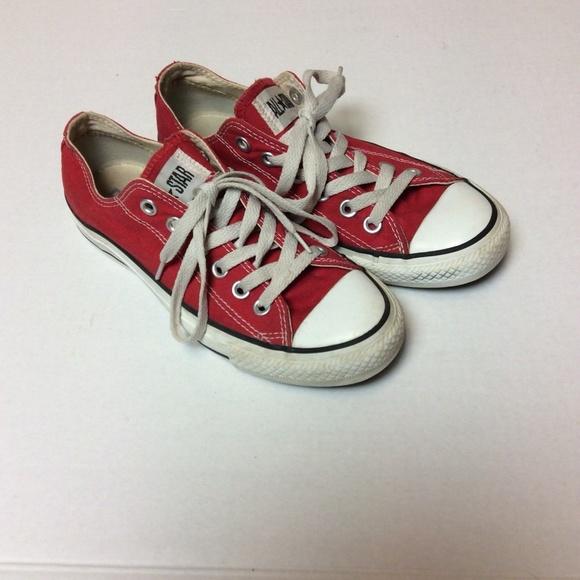 57e2e39e2dd9 Converse Shoes - Converse All Star Red Canvas Shoes Size M 5 W 7